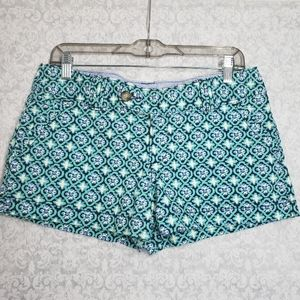 Red Camel blue & green printed shorts   Size 9